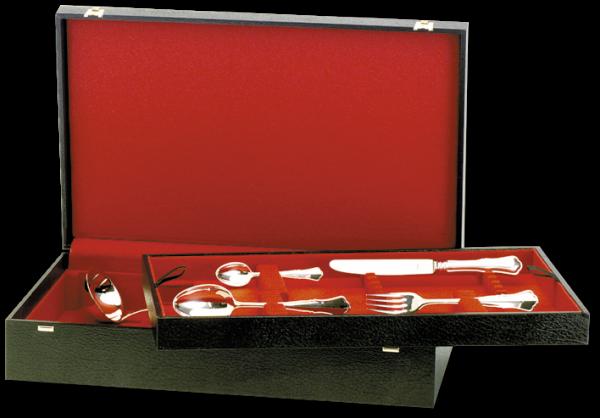 Albec de Luxe Etui für 75 Teile, 12 Bestecke 5-tlg.,15 Vorlegeteile