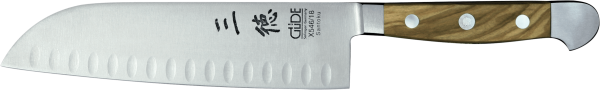 Güde Santoku Messer 18 cm, Kulle, Alpha Olive