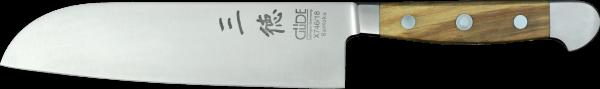 Güde Santoku Messer 18 cm, Alpha Olive