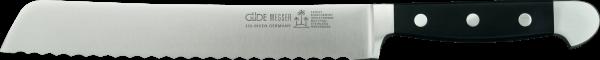 Güde Brotmesser 21 cm, Alpha, beidseitige Welle