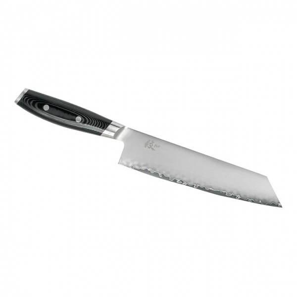 YAXELL Kiritsuke Messer MON, 3-lagig, Kernlage Stahl VG 10, Griff schwarzes Leinenmicarta, Endkappe