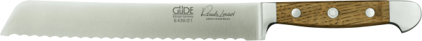 Güde Brotmesser 21 cm, links, Alpha Fasseiche, Linkshänderausführung