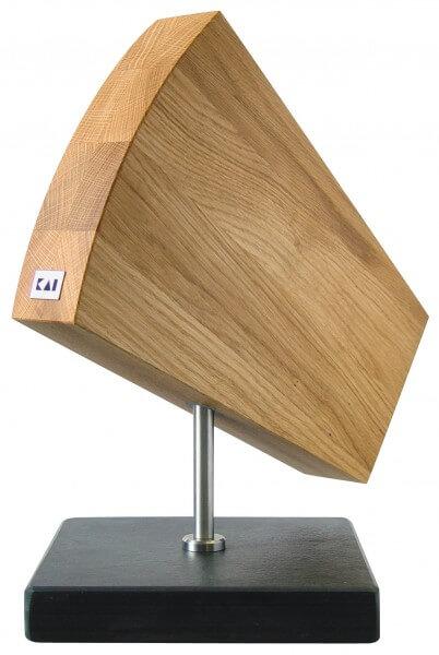 KAI SHUN Messerblock Eiche, drehbar/Granitsockel (DM-0794)