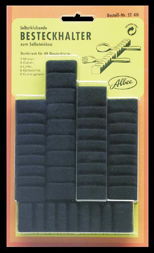 Albec Besteckhalter-Set, für 8 Bestecke, 40 Teile