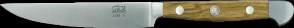 Güde Porterhouse Steakmesser 12 cm, Alpha Olive, glatte Klinge