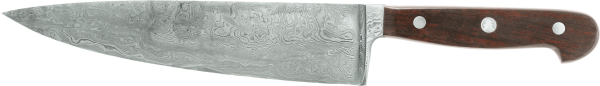Güde Kochmesser 21 cm, Damast-Stahl