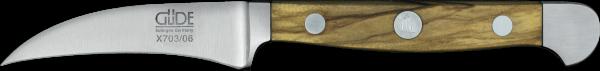 Güde Schälmesser 6 cm, Alpha Walnuss
